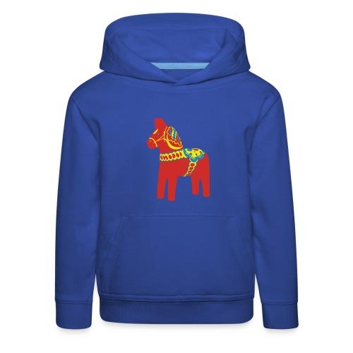 Dalahäst Dalecarlian Horse Dala-Pferd. Schweden - Kinder Premium Hoodie