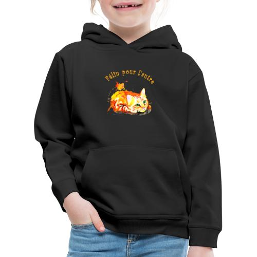 Chat roux,Félin pour l'autre - Pull à capuche Premium Enfant