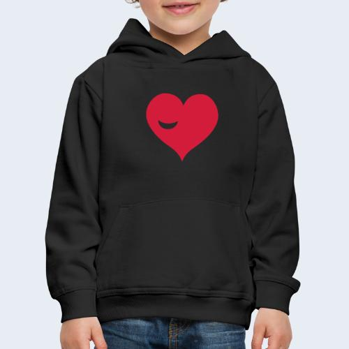Winky Heart - Kinderen trui Premium met capuchon