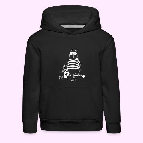 T-Shirt Bio schwarz RäuBär - Kinder Premium Hoodie