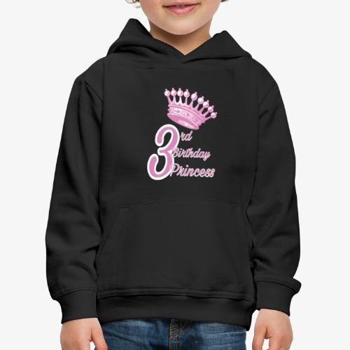 3rd Birthday Princess - Felpa con cappuccio Premium per bambini