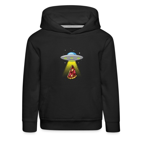 UFO Pizza Abduction - Pull à capuche Premium Enfant
