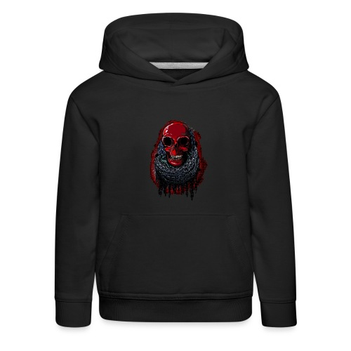 Red Skull in Chains - Kids' Premium Hoodie