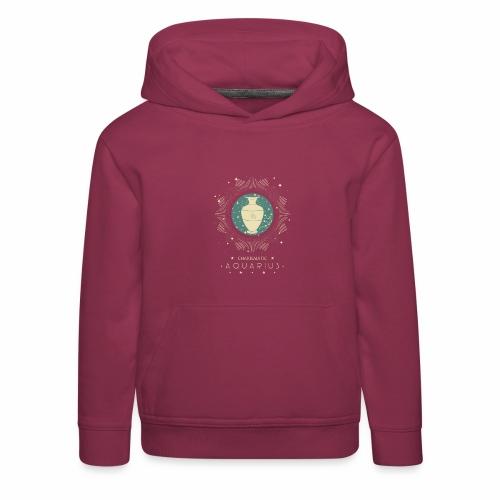 Sternzeichen Wassermann Aquarius Januar Febbruar - Kinder Premium Hoodie
