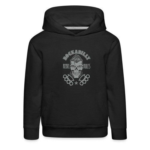 skull rebel rule vector4 - Sudadera con capucha premium niño