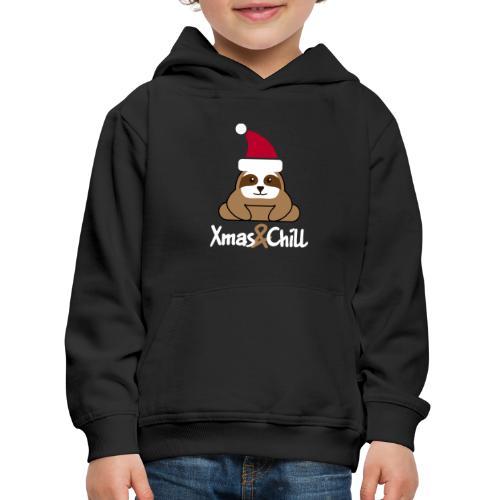Faultier Weihnachten süß lustig Geschenk - Kinder Premium Hoodie