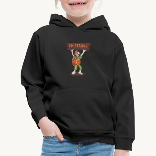 Turtle mit Power - Kinder Premium Hoodie