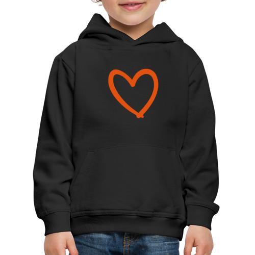 Heart Lines Pixellamb - Kinder Premium Hoodie