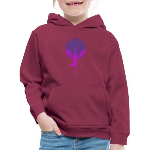 fleur de vie yoga n°1 - Pull à capuche Premium Enfant