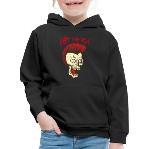Eat The Rich (For Dark Shirts) - Kinder Premium Hoodie