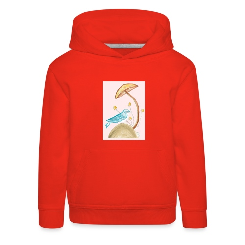 fungo con uccello - Felpa con cappuccio Premium per bambini