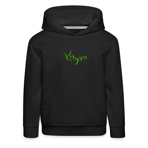 Vegaani käsinkirjoitettu design - Lasten premium huppari