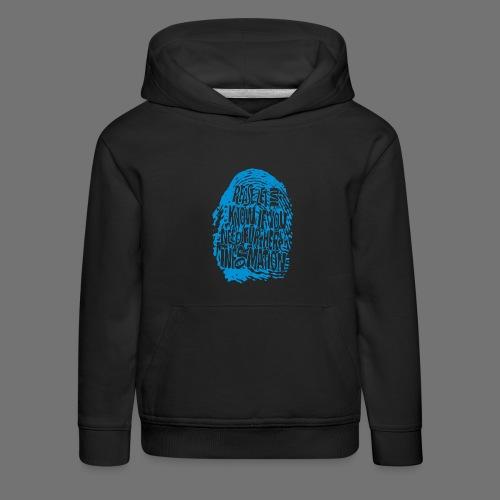 Fingerprint DNA (blue) - Kinder Premium Hoodie