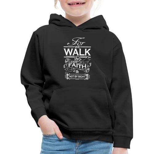 walk white - Kids' Premium Hoodie