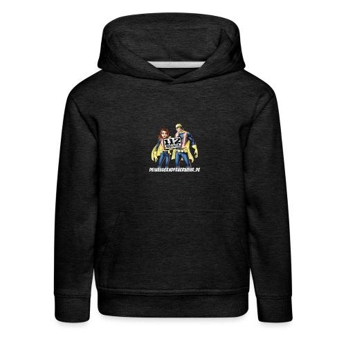 Superhelden & Logo - Kinder Premium Hoodie