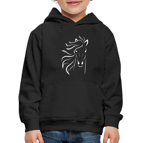 pferd silhouette - Kinder Premium Hoodie