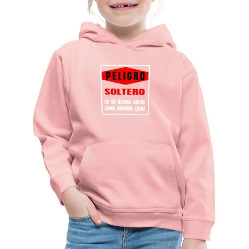 Peligro soltero - Sudadera con capucha premium niño