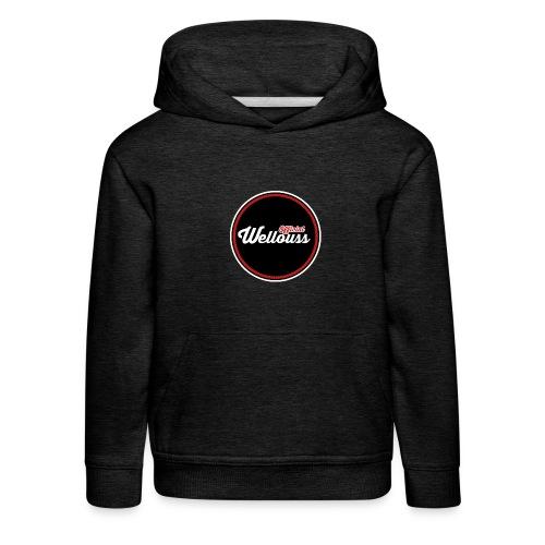 Wellouss Fan T-shirt | Rood - Kinderen trui Premium met capuchon