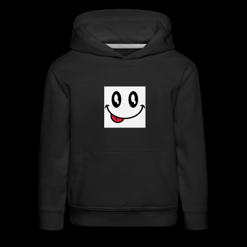 augen-smiley-zunge-t-shirts-maenner-premium-t-shir - Kinder Premium Hoodie