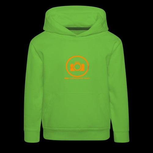 Orange 2 png - Premium hættetrøje til børn