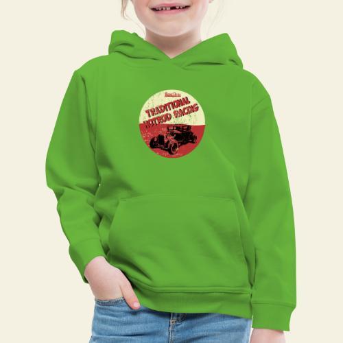 hotrod racing logo - Premium hættetrøje til børn