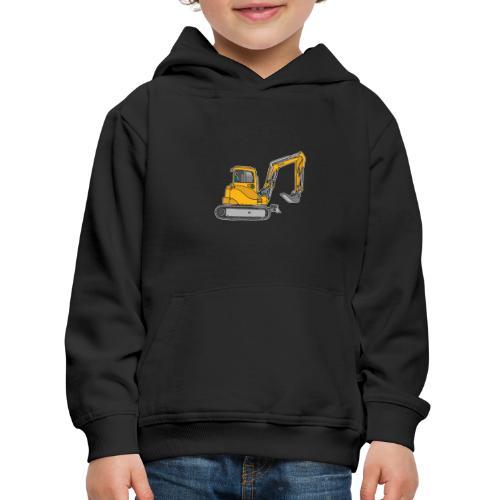 BAGGER, gelbe Baumaschine mit Schaufel und Ketten - Kinder Premium Hoodie
