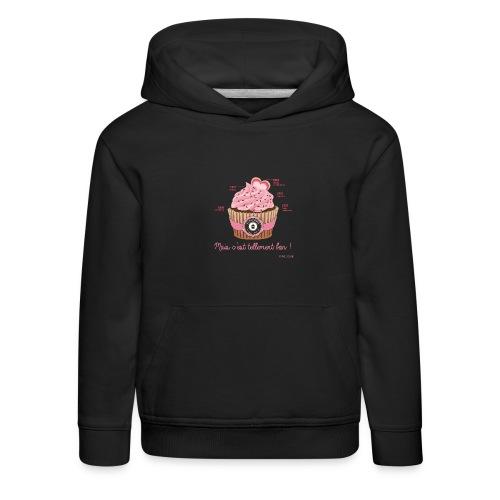 cupcake rose 2 - Pull à capuche Premium Enfant