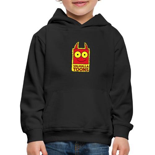 Valhalla Design 1 yellow bg - Kids' Premium Hoodie