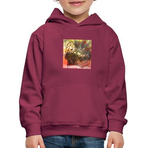 Design Geige Psalm 33 Vers 3 - auf Kleidung - Kinder Premium Hoodie