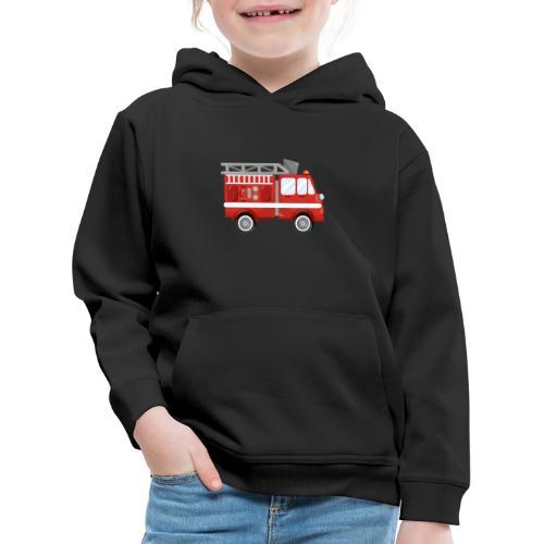 Wóz strażacki Straż pożarna - Bluza dziecięca z kapturem Premium