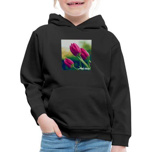 Blomster - Premium hættetrøje til børn