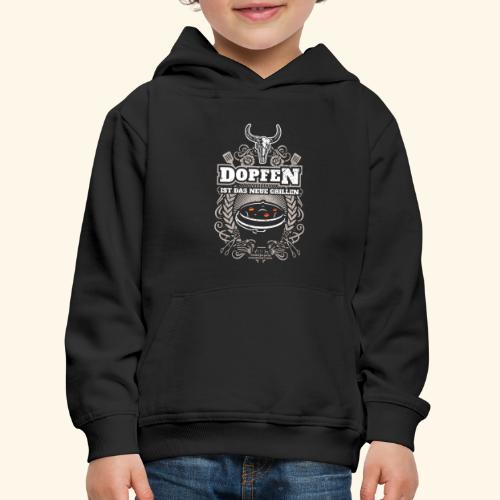 Dutch Oven T Shirt Dopfen ist das neue Grillen - Kinder Premium Hoodie