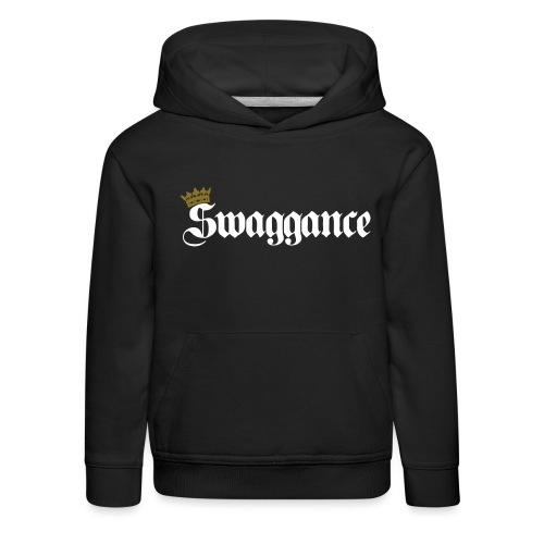 logo swaggance lisse ok - Pull à capuche Premium Enfant