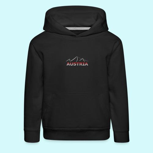 Austria - Österreich Berge T-Shirt - Kinder Premium Hoodie