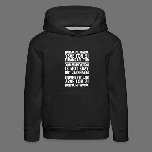 communication white sixnineline - Kids' Premium Hoodie