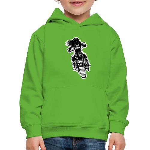 Biker Woman - Sudadera con capucha premium niño