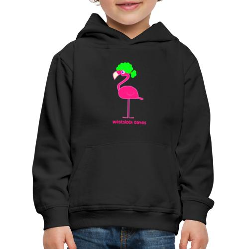Green Afro Haired Flamingo - Lasten premium huppari