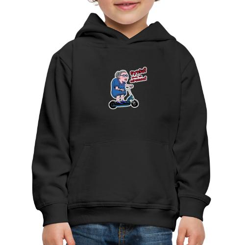 Babcia na hulajnodze lekcje już odrobiłeś - Bluza dziecięca z kapturem Premium
