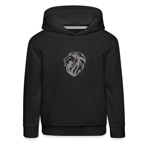 Lion grey - Pull à capuche Premium Enfant