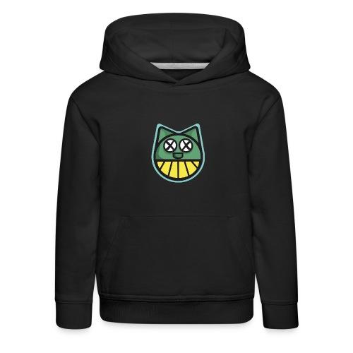 ZOMBIE CAT PRINT HOODIE - Kids' Premium Hoodie