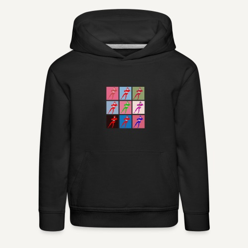 Stańczyk Warhol bez tla - Bluza dziecięca z kapturem Premium
