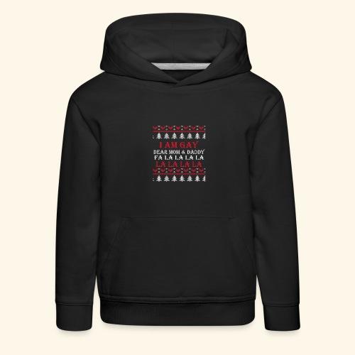 Gay Christmas sweater - Bluza dziecięca z kapturem Premium