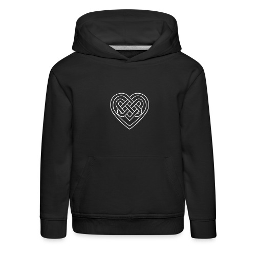 Keltisches Herz, Endlos Knoten, Liebe & Treue - Kinder Premium Hoodie