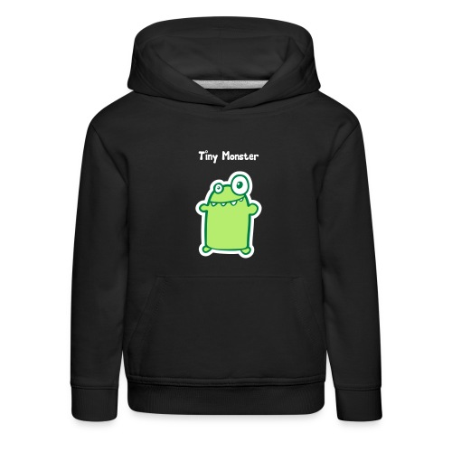 tm tiny monster with text white vector - Kids' Premium Hoodie