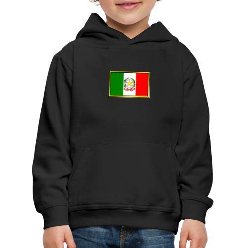 Bandiera Italiana - Felpa con cappuccio Premium per bambini