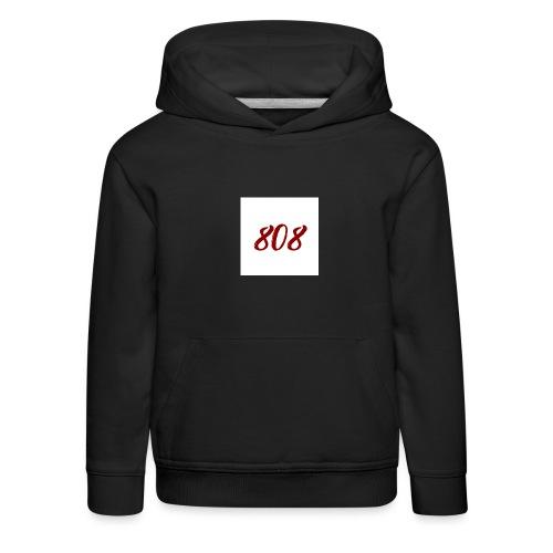 808 red on white box logo - Kids' Premium Hoodie