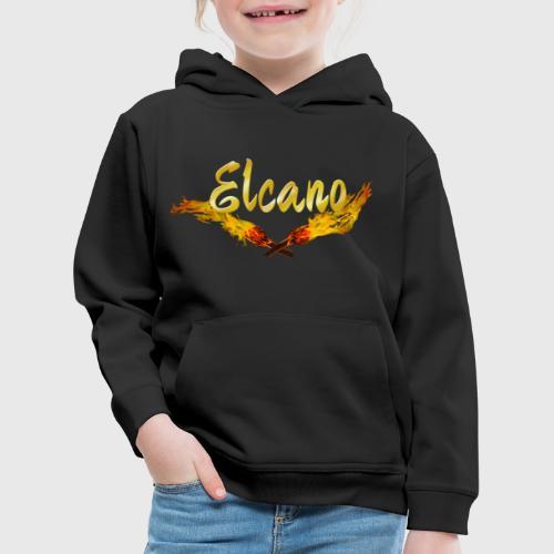 ELCANO Schriftzug mit Fackel - Kinder Premium Hoodie