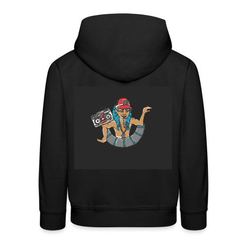 Hip Hop Dancing Pharaoh black background - Kids' Premium Hoodie