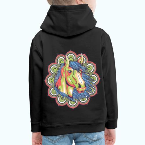 Mandala horse - Kids' Premium Hoodie