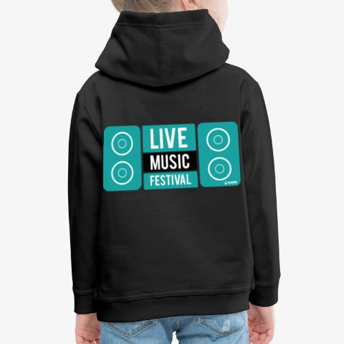 Amo la música - Sudadera con capucha premium niño